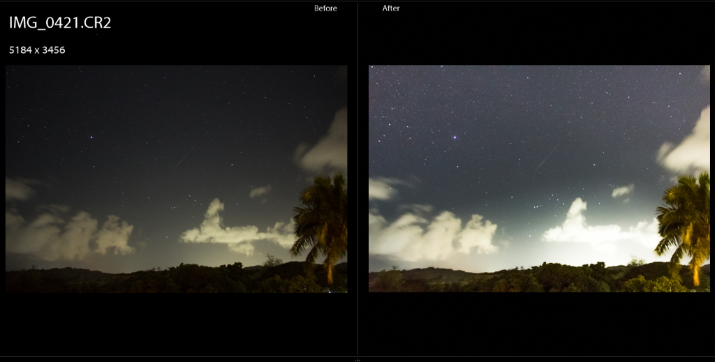 RAW images may appear dark with DSLR astrophotography.